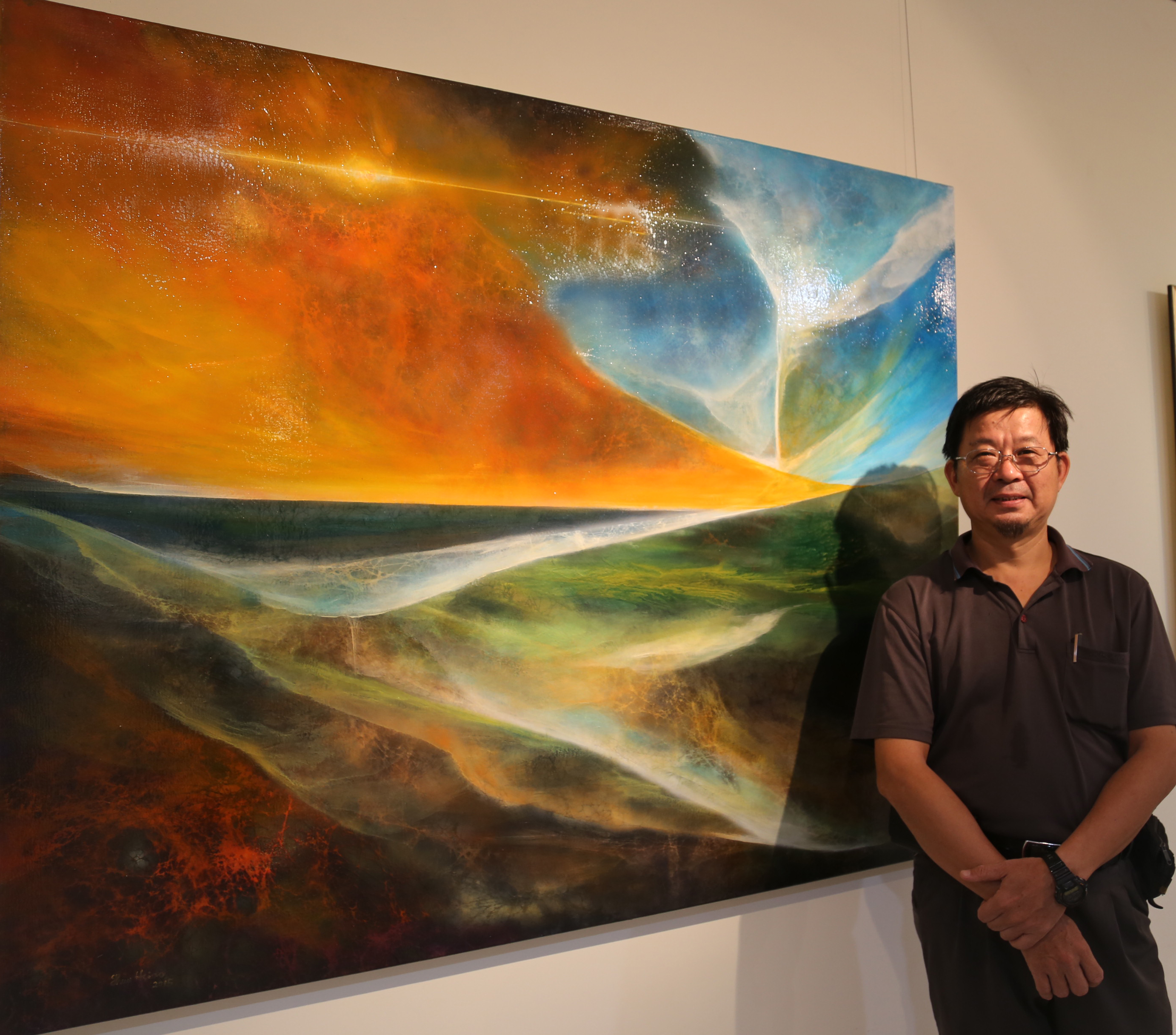 Shun-Hsiao Lin's The Aesthetic of Qi-Transformed Western Painting Exhibition